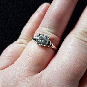 Jewelry - Diamond CZ Solitaire Sterling SILVER Ring